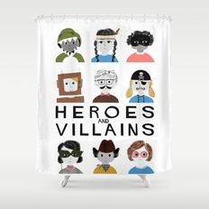 Heroes & Villains Shower Curtain
