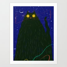 Night Cat Art Print