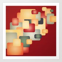 A Warm Retro Feeling. Art Print