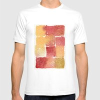 Watercolor Abstract 9 Mens Fitted Tee White SMALL