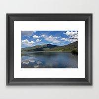 Pearl Lake Mountain View Framed Art Print