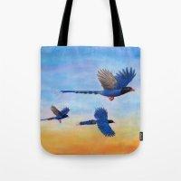 Taiwan Blue Magpies (2) Tote Bag