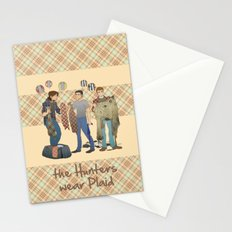 the Hunters  wear Plaid - Supernatural Stationery Cards