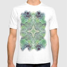 Abstract Texture Mens Fitted Tee White SMALL