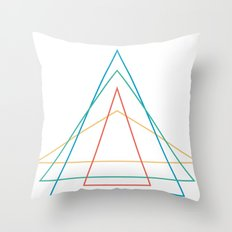 4 triangles Throw Pillow