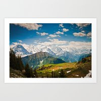 berner oberland, switzerland Art Print