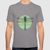 Dragonfly ~ The Summer Series Mens Fitted Tee Tri-Grey SMALL
