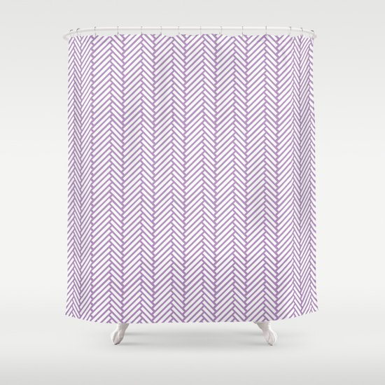 Herringbone Orchid Shower Curtain