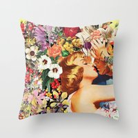 Floral Bed Throw Pillow