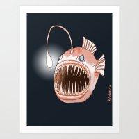Anglerfish Art Print