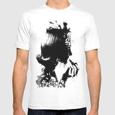 WOMAN SOLDIER SMALL White Mens Fitted Tee