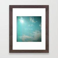 Reach The Sky Framed Art Print