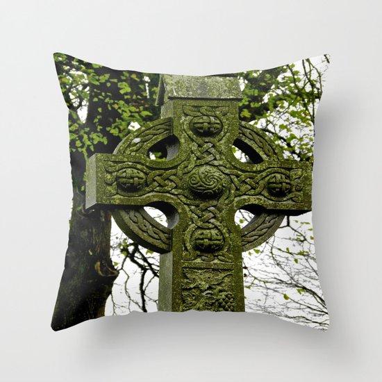 Celtic Cross at Monasterboice Throw Pillow