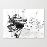 Piano Death Canvas Print