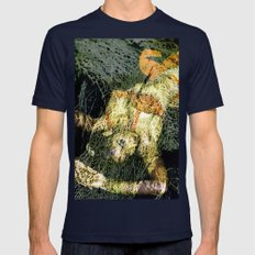 Oriental Beautie - Orang… Mens Fitted Tee Navy SMALL