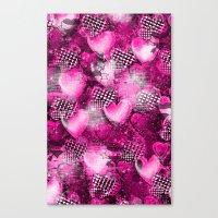 Light Bulb Hearts Series (pink) Canvas Print