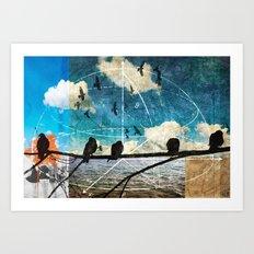 coordinates 2 Art Print