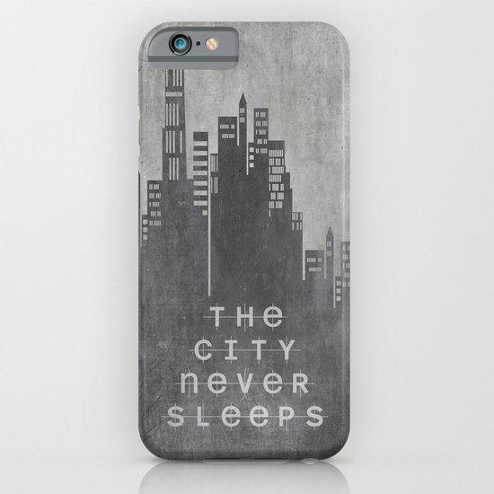The City Never Sleeps iPhone & iPod Case