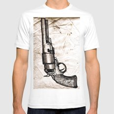 American Pistol II White SMALL Mens Fitted Tee