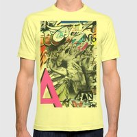 A Is For Angel Mens Fitted Tee Lemon SMALL