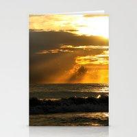Golden Beach Sunset Stationery Cards