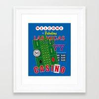 Las Vegas Poker Casino Art Print Decoration Framed Art Print