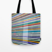 Colored Lines On The Wall Tote Bag