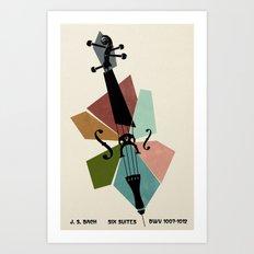 Bach - Cello Suites Art Print