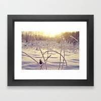 Alaskan Snowfall Framed Art Print