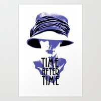 Time After Time Bleu Art Print