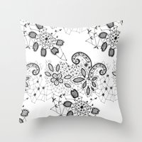 Lace 3 Throw Pillow