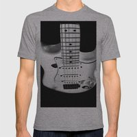 While My Guitar Gently W… Mens Fitted Tee Athletic Grey SMALL