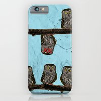 Perched Owls Print iPhone 6 Slim Case