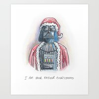 I Am Your Father Christm… Art Print