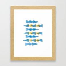 Blue & Yellow Arrows Framed Art Print