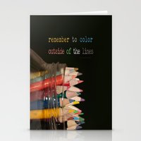 Color Outside Of The Lin… Stationery Cards