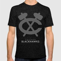 Minimal Chicago Mens Fitted Tee Tri-Black SMALL