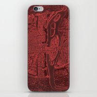 Vintage Paris Red iPhone & iPod Skin