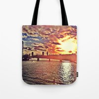 Sunset Over London Tote Bag