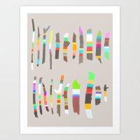 Painted Twigs 2 Art Print