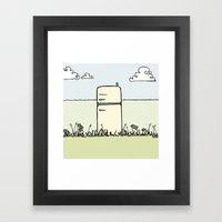 Retro Spring Framed Art Print