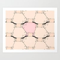Pig Tessellation Art Print