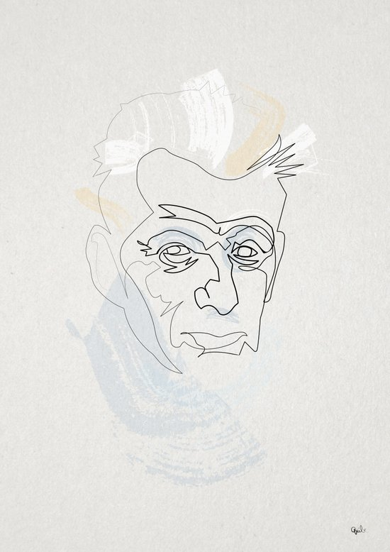 One Line Samuel Beckett Art Print