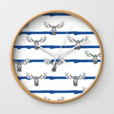 Moose Wallpaper Wall Clock