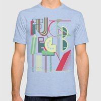 Fuck Legibility Mens Fitted Tee Tri-Blue SMALL