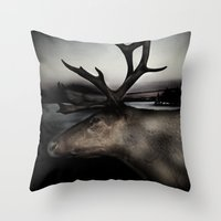Tom Feiler Caribou Throw Pillow