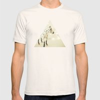 Horse In Winter Mens Fitted Tee Natural SMALL