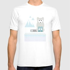 Kettu the Arctic Fox Mens Fitted Tee White SMALL
