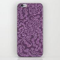 Wiggly Bubbles - Purple iPhone & iPod Skin