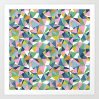 Abstraction Repeat Pink Art Print